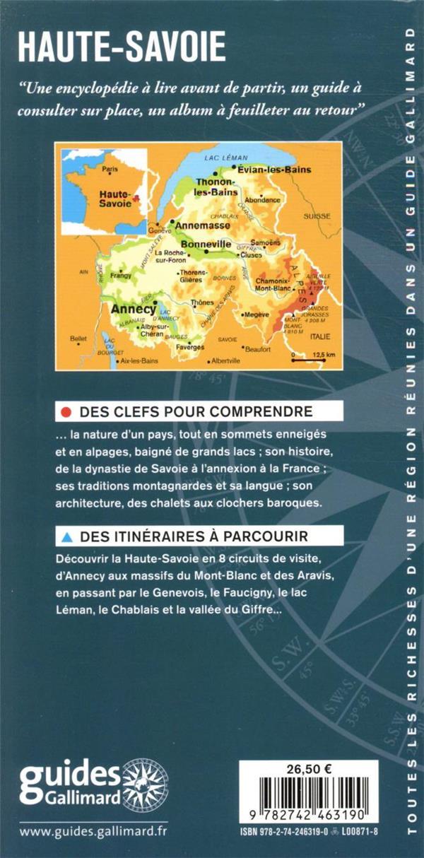 Haute-Savoie ; Annecy, Genevois, lac Léman, pays du Mont-Blanc, Aravis