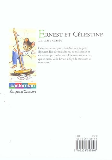 Ernest et Célestine ; la tasse cassée