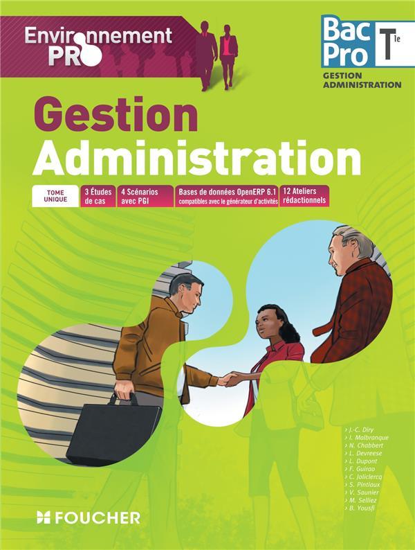ENVIRONNEMENT PRO ; gestion administration ; terminale bac pro ; livre de l'élève