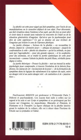 Lecons psychanalytiques sur les phobies, 3e edition