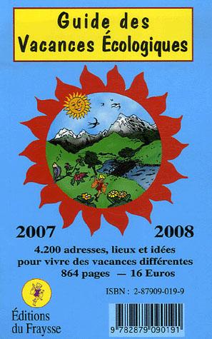 Guide des vacances écologiques (édition 2007-2008)