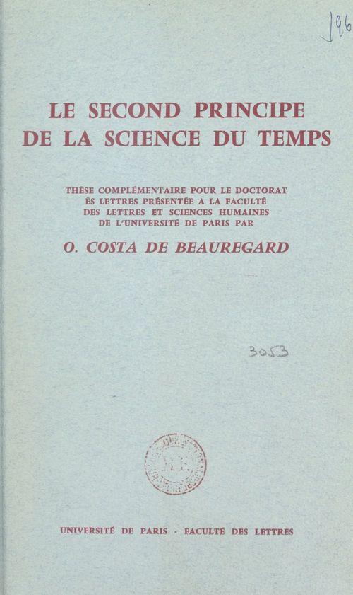 Le second principe de la science du temps