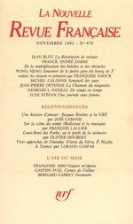 La Nouvelle Revue Française N° 478
