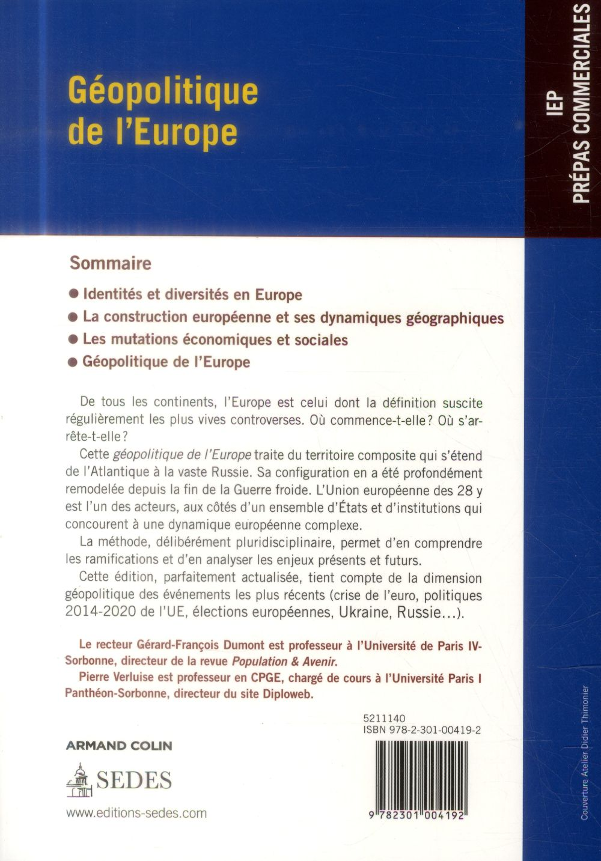 géopolitique de l'Europe ; 2e édition