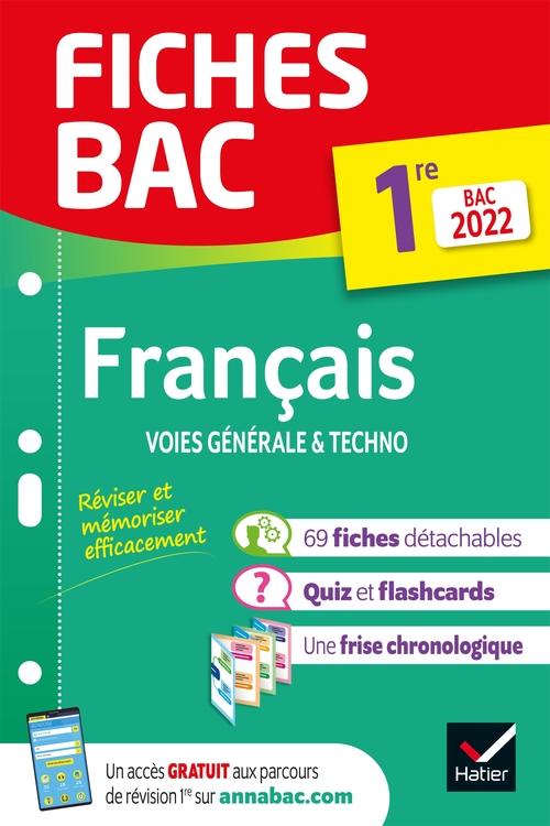 Fiches bac ; français ; 1re générale & techno (édition 2022)