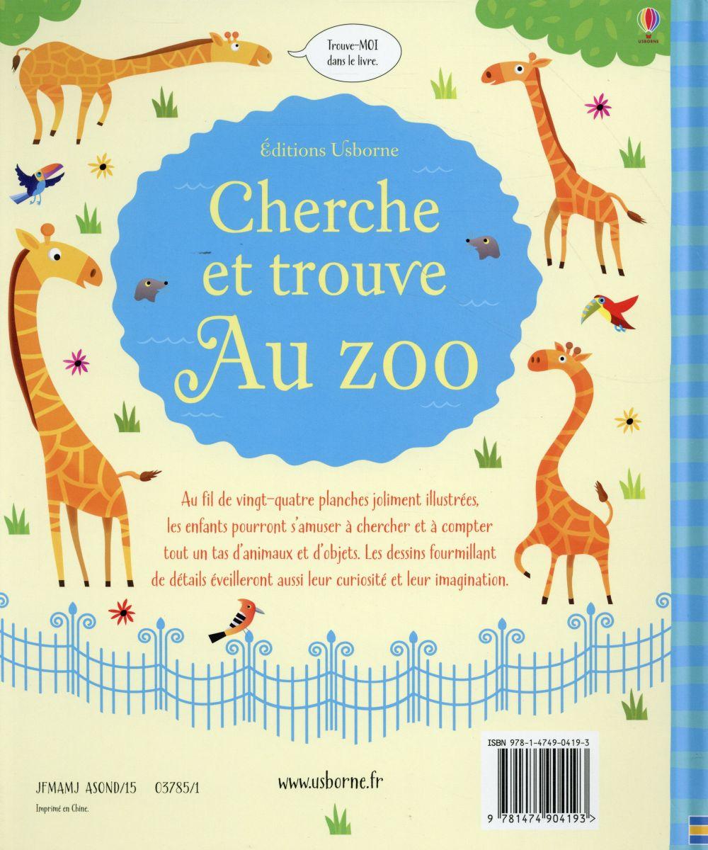 au zoo ; cherche et trouve