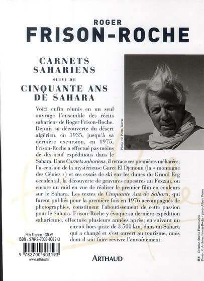Carnets sahariens ; 50 ans de Sahara