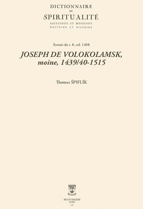 JOSEPH DE VOLOKOLAMSK, moine, 1439/40-1515