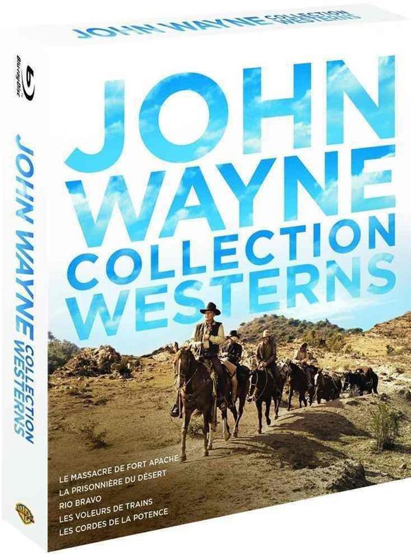 John Wayne - Collection Westerns : Le massacre de Fort Apache + La prisonnière du désert + Rio Bravo + Les voleurs de train + Les cordes de la potence