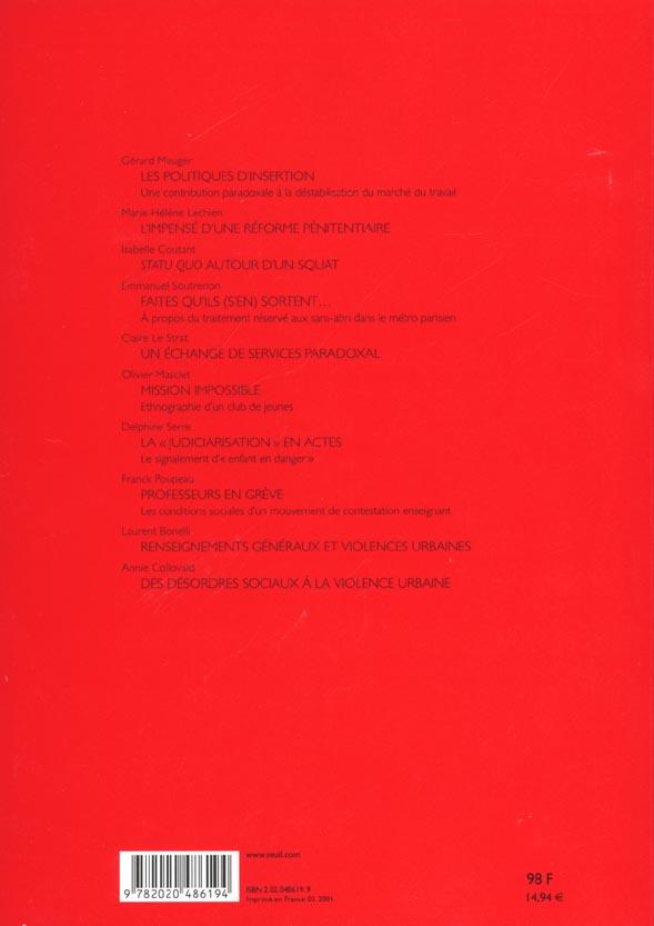 Actes de la recherche sciences sociales t.136; les nouvelles formes d'encadrement des classes populaires t.1