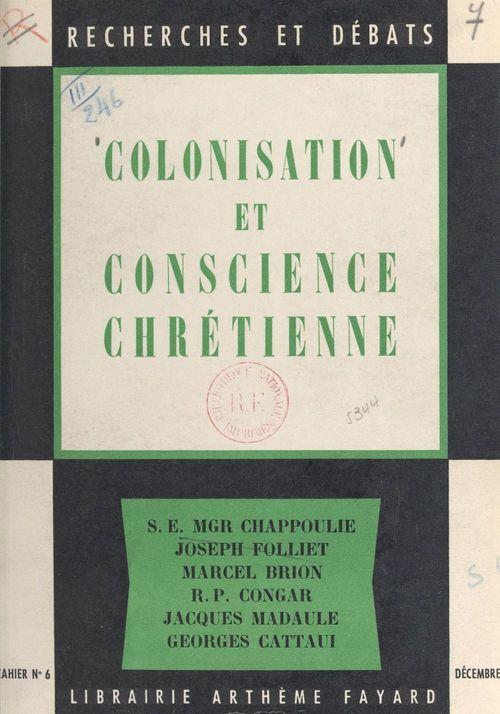 Colonisation et conscience chrétienne