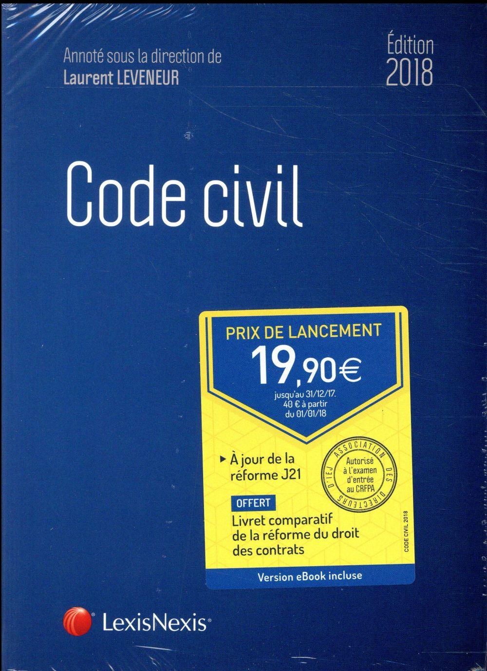 Code civil (édition 2018)