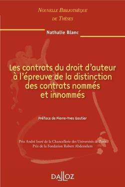 Ls Cont. Du Droit D'Aut. A L'Epreuve De La Distinction Des Cont. Nommes Et Innommes. Vol.93
