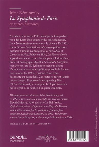 la symphonie de Paris et autres histoires
