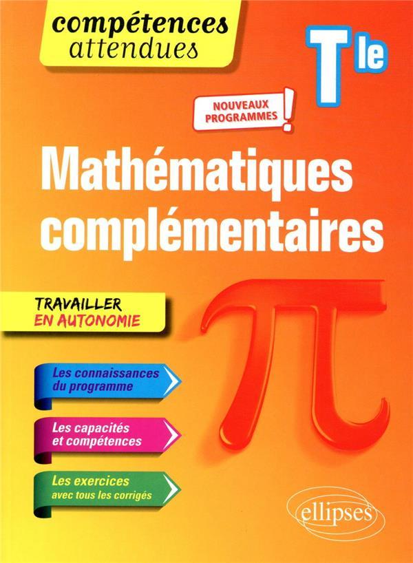 Compétences attendues ; mathématiques complémentaires ; terminale ; nouveaux programmes