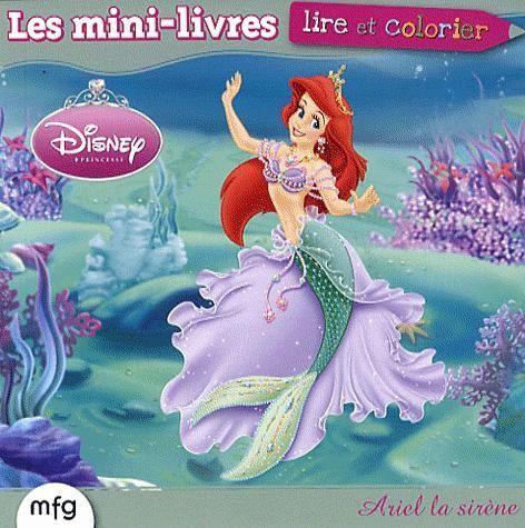 Ariel la sirène ; lire et colorier