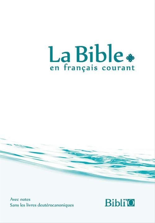 Bible Francais Courant Rigide Blanc Bleu