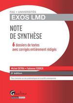 Vente Livre Numérique : Note de synthèse - 3e édition  - Michel Deyra - Fabienne Ferrer