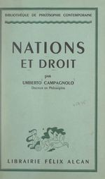 Vente EBooks : Nations et droit  - Umberto Campagnolo
