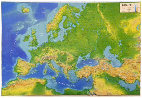 Europe 66 x 66cm