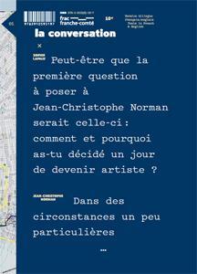 Sophie Lapalu et Jean-Christophe Norman ; de l'action à la conversation