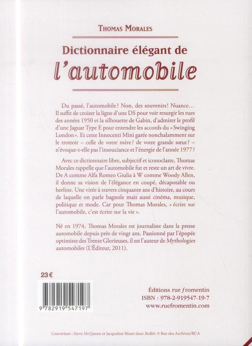 Dictionnaire élégant de l'automobile
