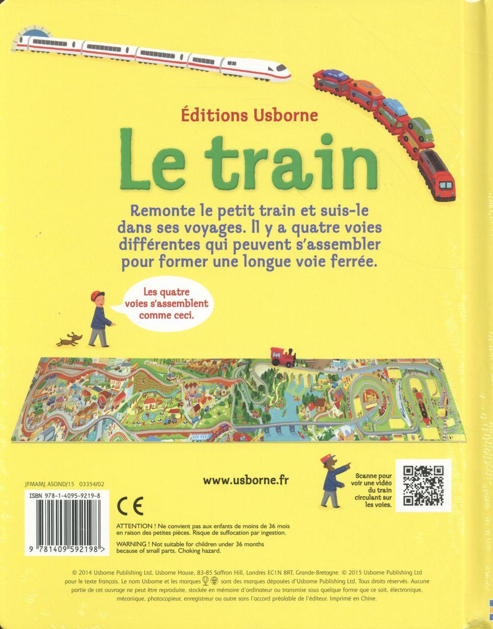 le train ; avec jouet à remonter