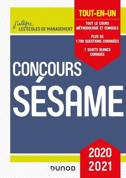 Concours Sésame ; tout-en-un (édition 2020/2021)