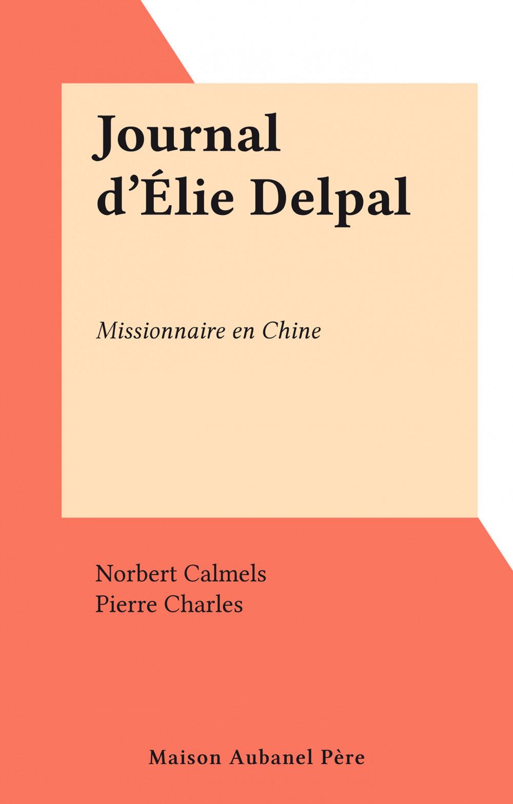 Journal d'Élie Delpal