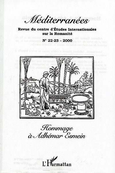 Hommage à Adhemar Esmein