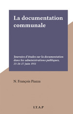 La documentation communale  - N. Francois Piazza