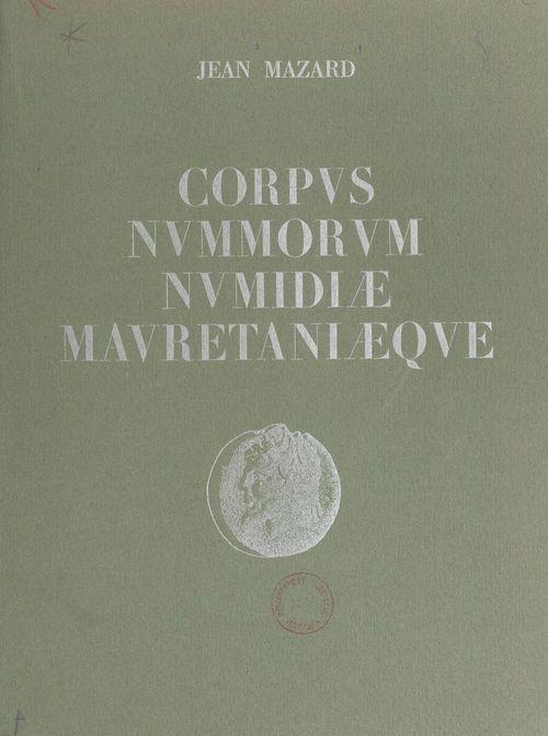 Corpus nummorum numidiae mauretaniaeque