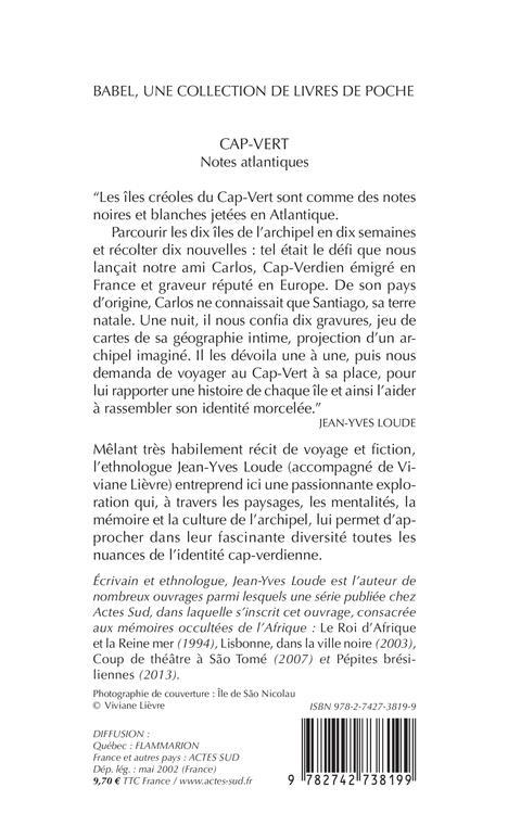 Cap-Vert ; notes atlantiques