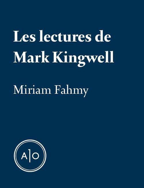 Les lectures de Mark Kingwell