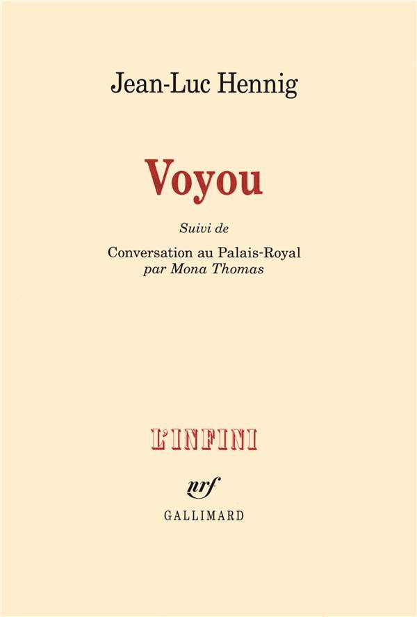 Voyou ; conversation au Palais-Royal, par Mona Thomas