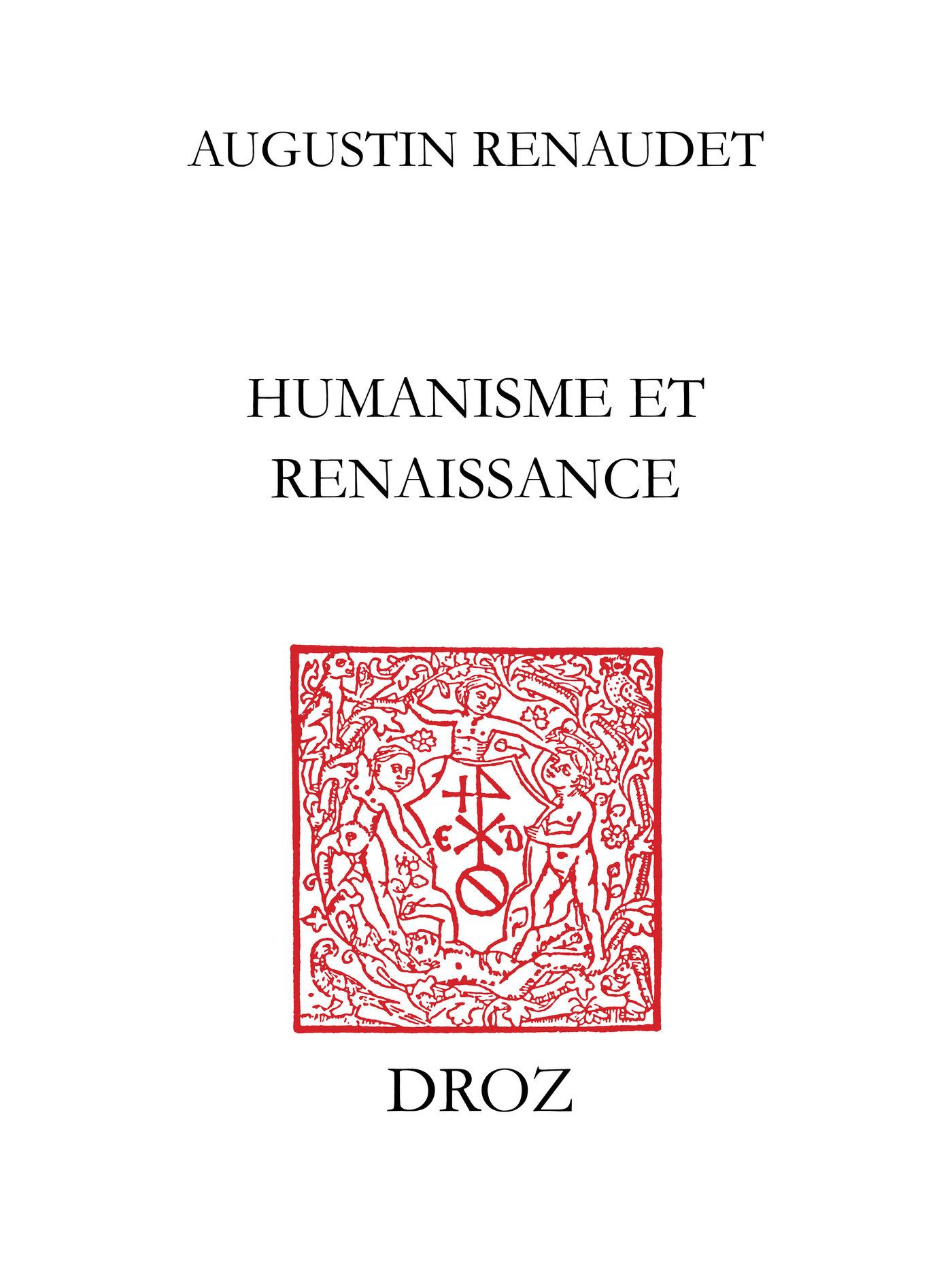 Humanisme et Renaissance  - Augustin Renaudet