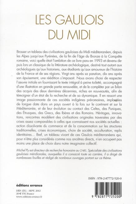 Les Gaulois du Midi ; de la fin de l'âge du Bronze à la Conquête romaine