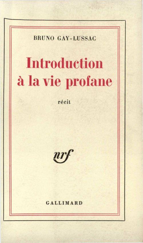 Introduction a la vie profane