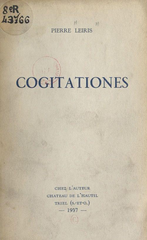 Cogitationes  - Pierre Leiris