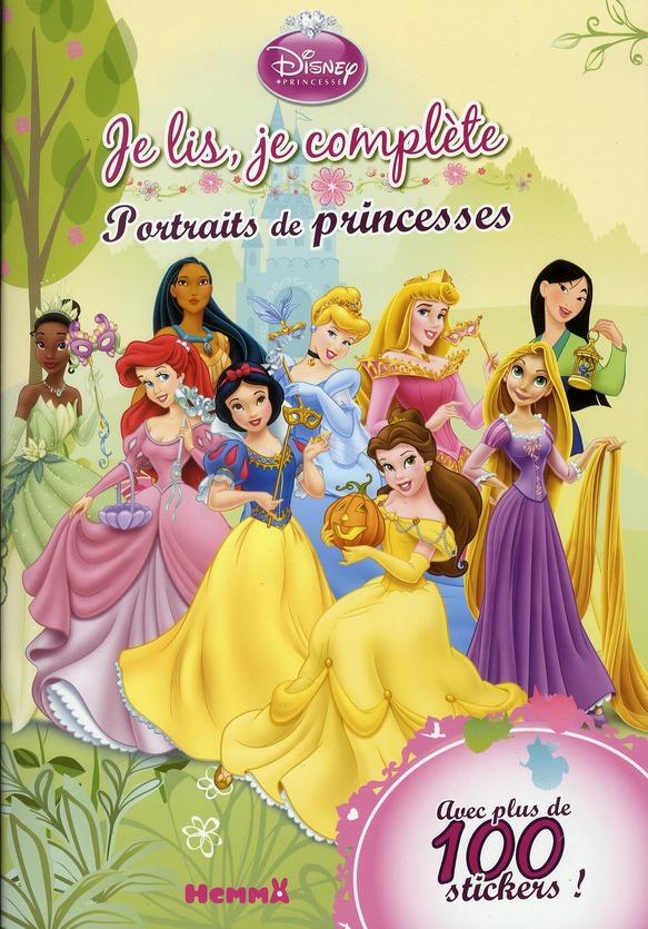 Je lis je complète ; portraits de princesses Disney