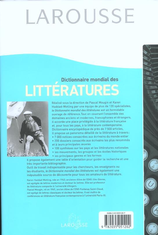 Dictionnaire mondial des litteratures