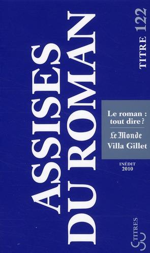 Assises internationales du roman (édition 2010)