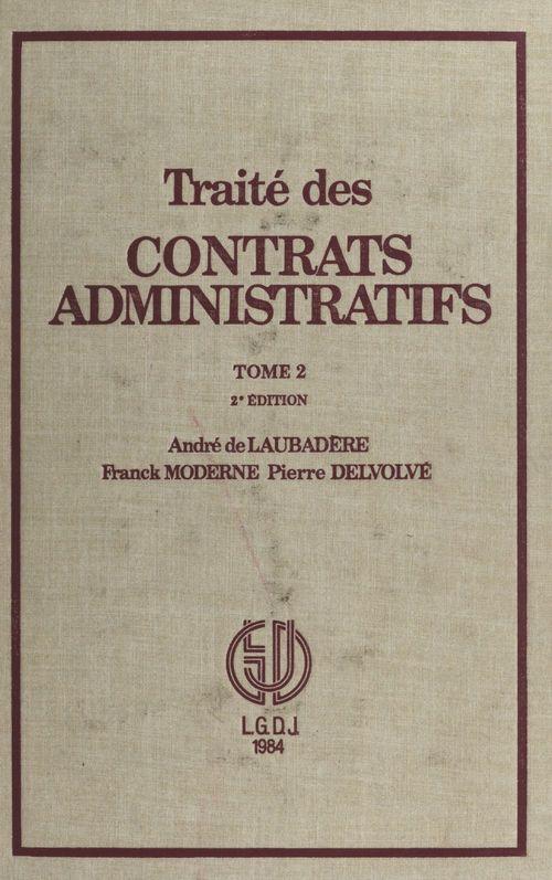 Tr.contrats administratifs t.2tr.contrats administratifs t 2