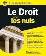 Vente Livre Numérique : Le Droit pour les Nuls  - Nicolas GUERRERO