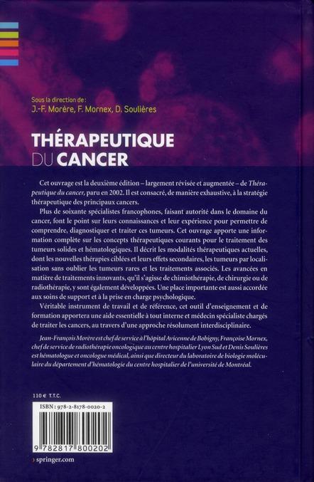 Thérapeutique du cancer (2e édition)