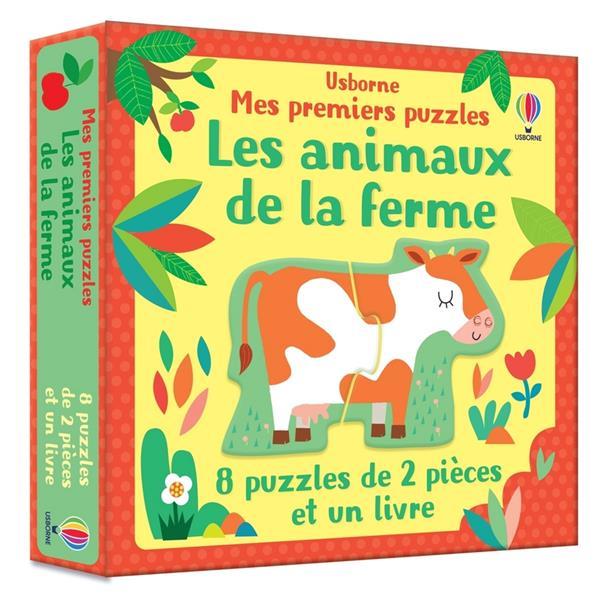 Les animaux de la ferme ; mes premiers puzzles