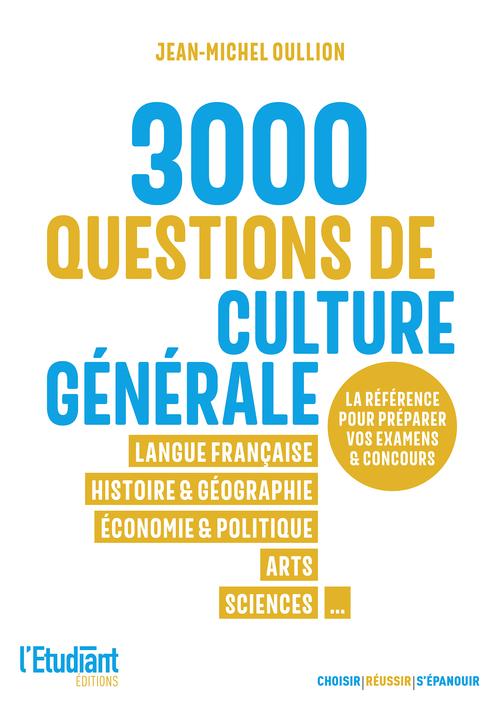 3000 QCM de culture générale