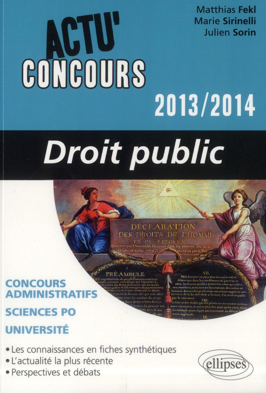 Actu'concours ; droit public 2013-2014