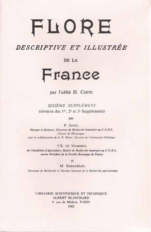 Flore descriptive et illustrée de la France ; 6e supplément
