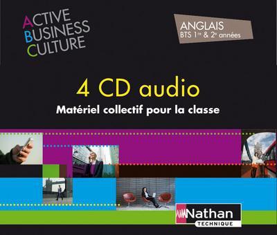 Coffret Active Business Culture Anglais Bts 1re & 2e Annees - 4 Cd Audio